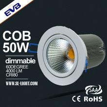 New Hot Sale Ceiling Mounted Epistar 10w 20w 30w 40w 50w adjustable led downlight
