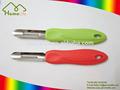 2 pcs manual do vegetal peeler com alça colorida