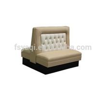Modern popular elegant sofa for restaurant restaurant leather sofa 801