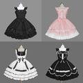 M- tara koleksiyonları gotik lolita serseri elbiseler, uzun kollu lolita elbise, seksi lolita elbise