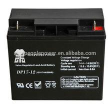 Sealed lead acid 20hr rechargeable battery 12v 17ah