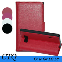 Factory top seller Luxury Flip Leather Flip Skin Case Cover For LG P705 Optimus L7