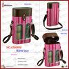 2 bottle wine carrier pink wine box lovely wine box