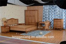 Luxury bedroom natural Rattan Bed