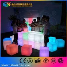 rechargeable battery glow night club led chair