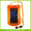 Wholesale Waterproof Universal Phone Clear Vinyl Drawstring Bag