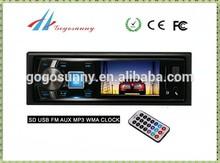 1 din car mp3 player car radio with FM transmitter car reversing sensor optional