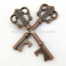 antique gold key shape bottle opener/pair bottle opener