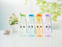 yeni moda sevimli tasarım 550ml maden suyu şişesi plastik soda kulplu şişe