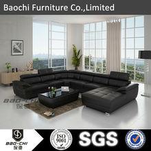 Baochi wooden furniture model sofa set,costco outdoor furniture china cabinet,modern black and white leather sofa C1128