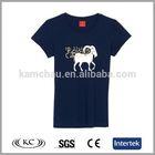 wholesale usa popular woman blue cute tee shirts