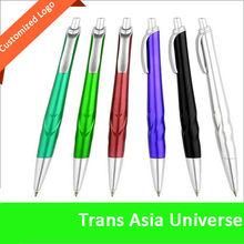 hot sale custom white promotional plastic ball pen with logo