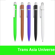 hot sale custom white color plastic promotional pens with logo