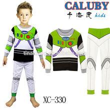 Children Cotton Long Sleeve Cartoon Iron Man Pajamas Baby Girl Boys Sleepwear Kids r pyjamas clothes set