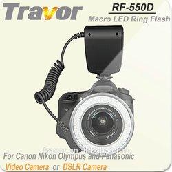 Professional Camera Equipment RF-550D For Nikon,Canon, Olympus and Panasonic DSLR Camera Macro LED Ring Flash