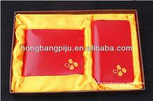 leather wallet gift set with keyholder for wallet card holder