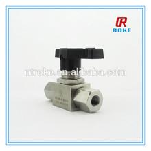 high performance 6000 psi ferrule 1/4 3/8 1/2 inch ss316 ball valves