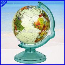 Quality 106mm plastic rotating mini world map globe