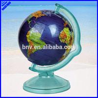 Quality 106mm plastic rotating world globe map