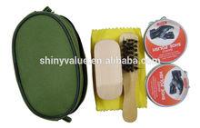 Manufacturer supply high gloss gentlemen handy travel shoe shine kit