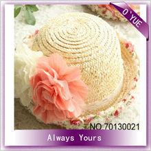 Girls Beautiful Pastoralism Wide Brim Straw Sun Hats