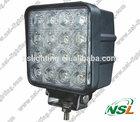 EMC Square USA CREE 48W LED Work Light Square Spot/Flood Beam 4x4 Off-road ATV, Mining, Motorcycle, Boat