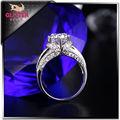 diseño 2014 diamante blanco de agua dulce de la perla redonda anillo de la perla natural precio