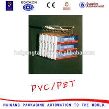 European standard j hook hang tabs low price/adhesive pet sticker
