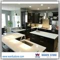 2014 venda quente da cozinha bancada, quartzo branco bancada da cozinha, quartz bancada de pedra