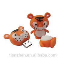 little tiger shape Usb,popular Usb2.0 drive,PVC animal cartoon Usb disk