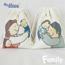Family series receive bag handmade cotton fiber bundle pocket bag strand pocket environmental protection small bag