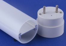 Polycarbonate tube housing with Aluminum 6063-T5 profile inside T8 led tube housing 1200mm /4 feets long
