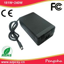 usa plug 24v 8.3a power supply 4 pin rail for led/lcd/cctv camera