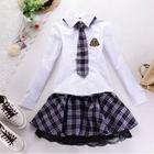 100% cotton sexy school girl dress uniform