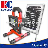 Energy Saving DC12V solar led flood light rechargeable 5~50w portable stadium lighting