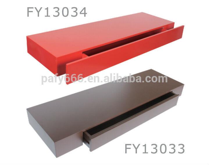 Tag re murale en bois avec tiroirs autres meubles en bois - Tablette murale avec tiroir ...