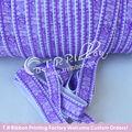 encaje púrpura impreso veces más elástica personalizada impresa de la cinta para el bebé y bandas para la cabeza