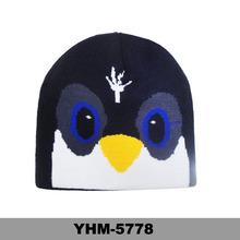 Hand made winter knitted bird wool hat