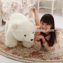 Different size white polar fleece bear toys cute stuffed animals plush bear toy