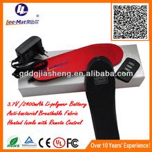 2014 prodotti creativi elettrico pantofole scaldapiedi per gli sport all'aria aperta