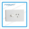 Australian vertical wall switch single power point