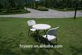 Blanc en plastique pliage chaise de jardin YA-T025