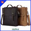 Vintage fashion men briefcase genuine leather tote bag for laptop