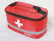 CE empty red first aid carry bag