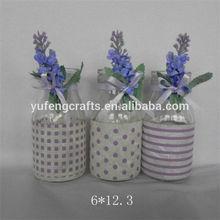unique and beautiful purple glass vase