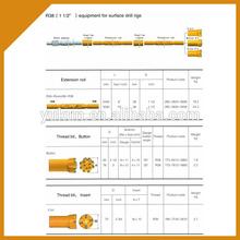 12 feet 3660 mm length equipment for surface drill rig mining drill rod
