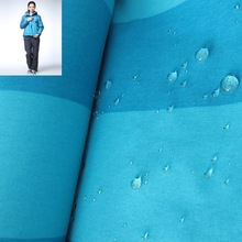 waterproof breathable nylon 228t taslon fabric for jacket/sportwear