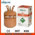 Refrigerante r404a la protección de medio ambiente de gas utilizado en el compresor con 10.9kg/24lb n. W. Desechables de embalaje del cilindro, oem de marca