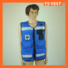 Sleeveless Fishing Vest in Blue Sales All Over the World