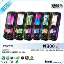 TFT Display Type and Bluetooth,FM,mp3,mp4 dual sim card telefono cellulars w800